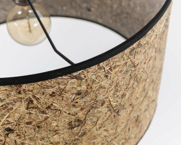 0000 Stehleuchte Heu zylindrisch 485cm DM Detail LIEB & KÜHN Stehleuchte aus Holz & Heu