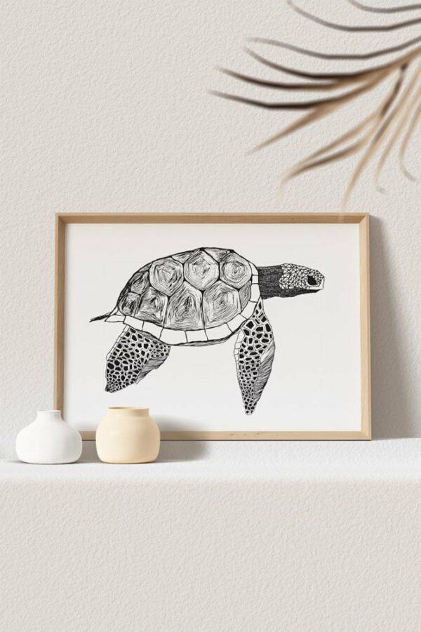 "Werjant artprint landscape mockup turtle web LIEB & KÜHN ""Turtle"" Print"