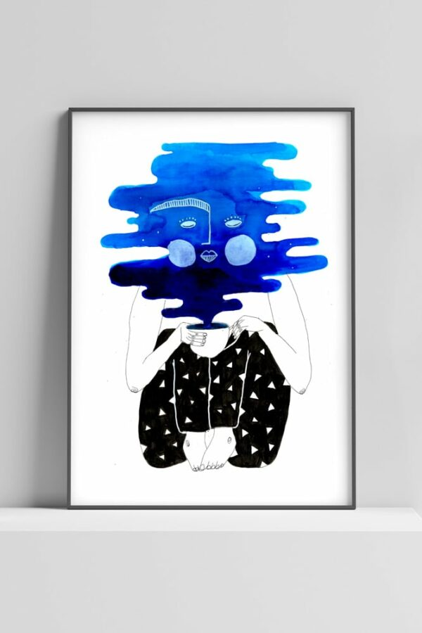 "Werjant artprint portrait coffee LIEB & KÜHN ""Coffee Clouds"" Print"