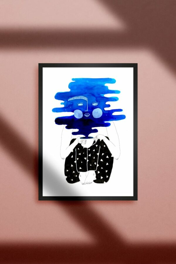 "Werjant artprint portrait coffeeclouds LIEB & KÜHN ""Coffee Clouds"" Print"