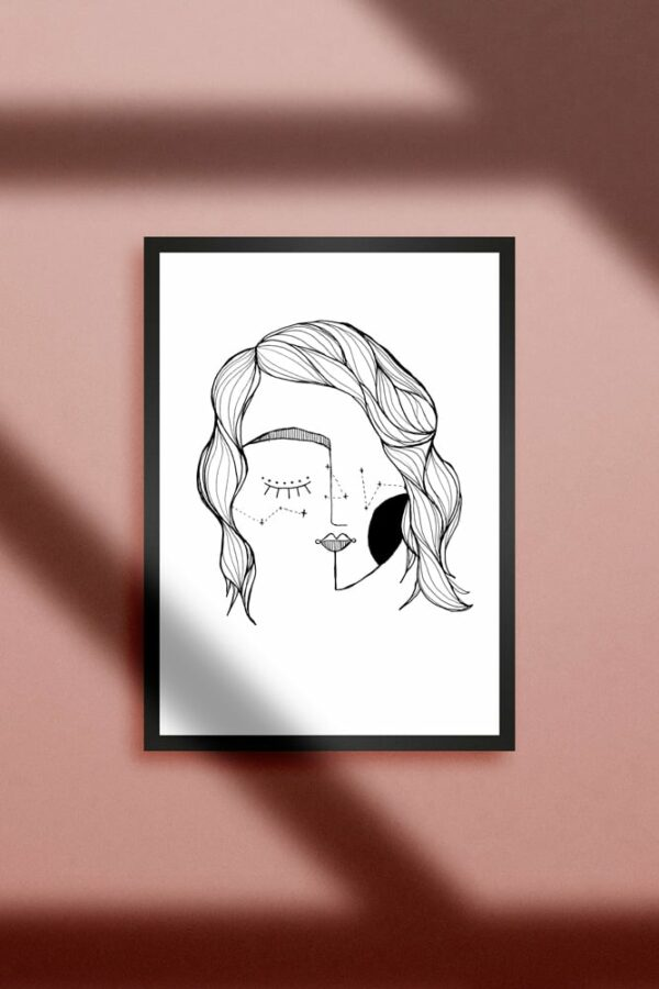 "Werjant artprint portrait LIEB & KÜHN ""Galaxy Girl"" Print"