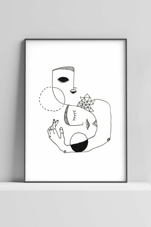 "Werjant artprint portrait home Kopie LIEB & KÜHN ""Home"" Print"