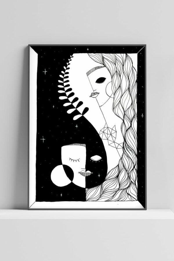 """Werjant artprint portrait honour Kopie LIEB & KÜHN """"Honour"""" Print"""