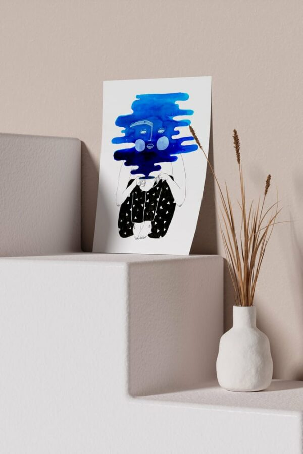 "Werjant artprint portrait mockup coffee LIEB & KÜHN ""Coffee Clouds"" Print"