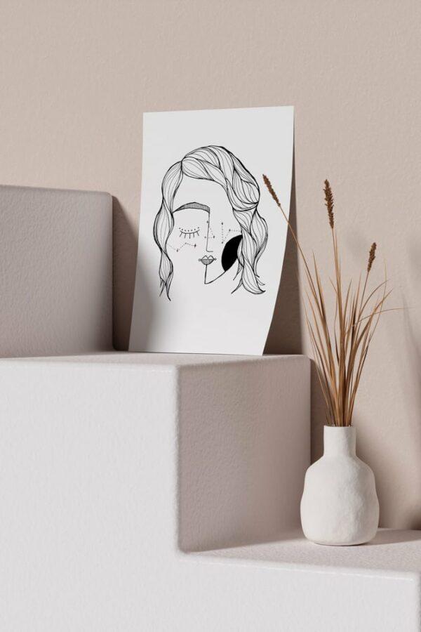 "Werjant artprint portrait mockup LIEB & KÜHN ""Galaxy Girl"" Print"