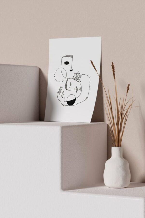 "Werjant artprint portrait mockup home LIEB & KÜHN ""Home"" Print"