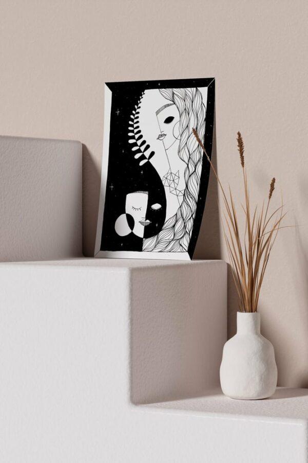 """Werjant artprint portrait mockup honour LIEB & KÜHN """"Honour"""" Print"""