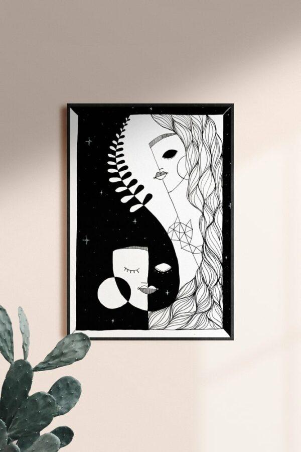 """Werjant artprint portrait mockup honour Kopie LIEB & KÜHN """"Honour"""" Print"""