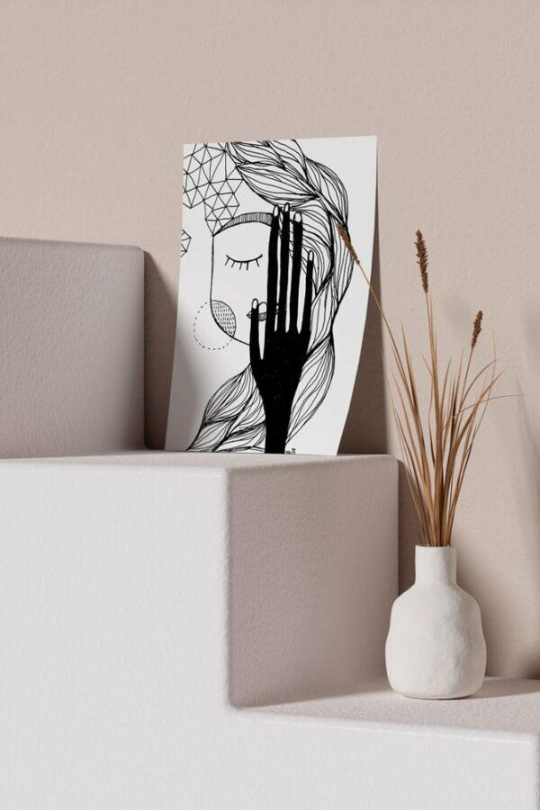 "Werjant artprint portrait mockup lust LIEB & KÜHN ""Lust"" Print"