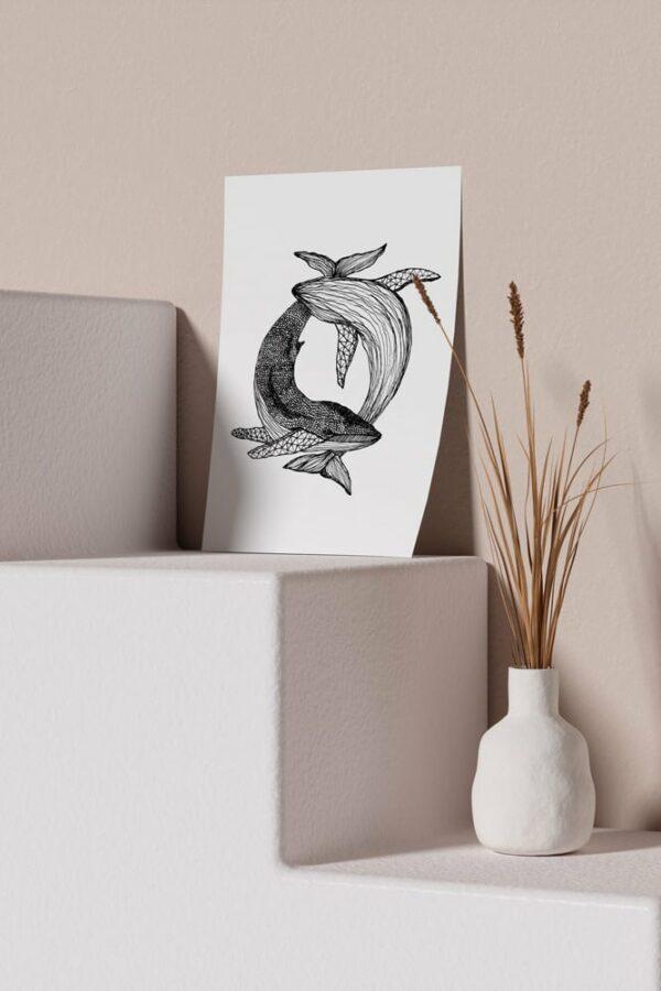 "Werjant artprint portrait mockup whales LIEB & KÜHN ""Whales"" Print"