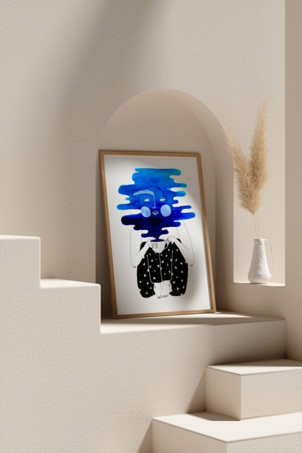 "Werjant artprint portrait mockup2 coffee LIEB & KÜHN ""Coffee Clouds"" Print"