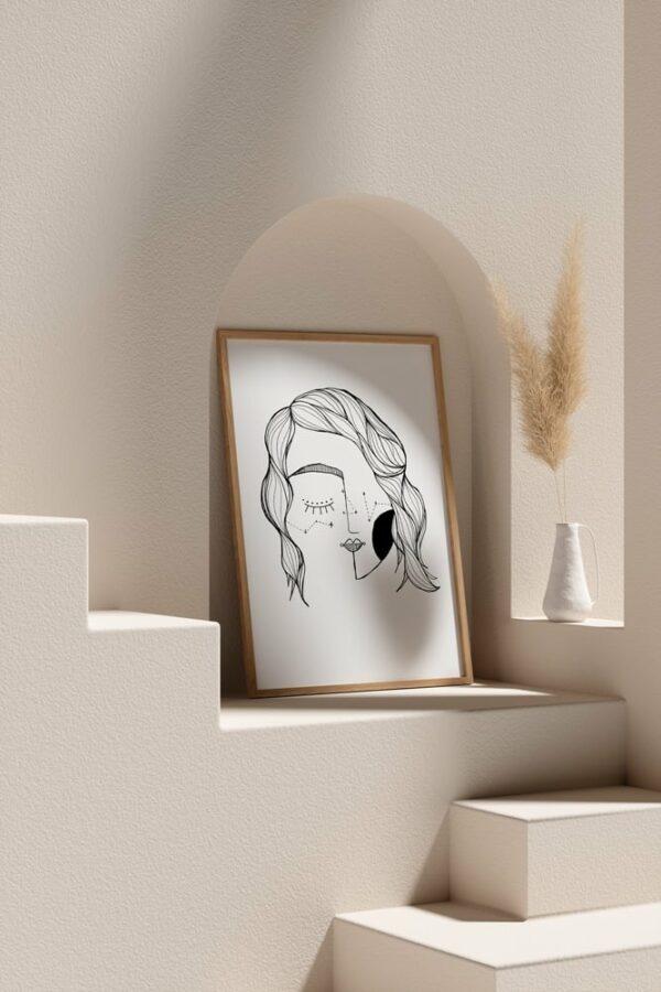 "Werjant artprint portrait mockup2 LIEB & KÜHN ""Galaxy Girl"" Print"