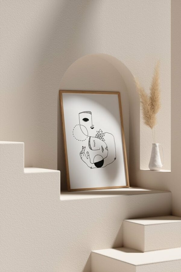 "Werjant artprint portrait mockup2 home LIEB & KÜHN ""Home"" Print"