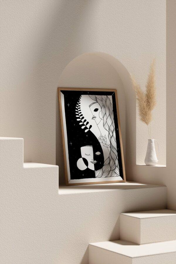 """Werjant artprint portrait mockup2 honour LIEB & KÜHN """"Honour"""" Print"""