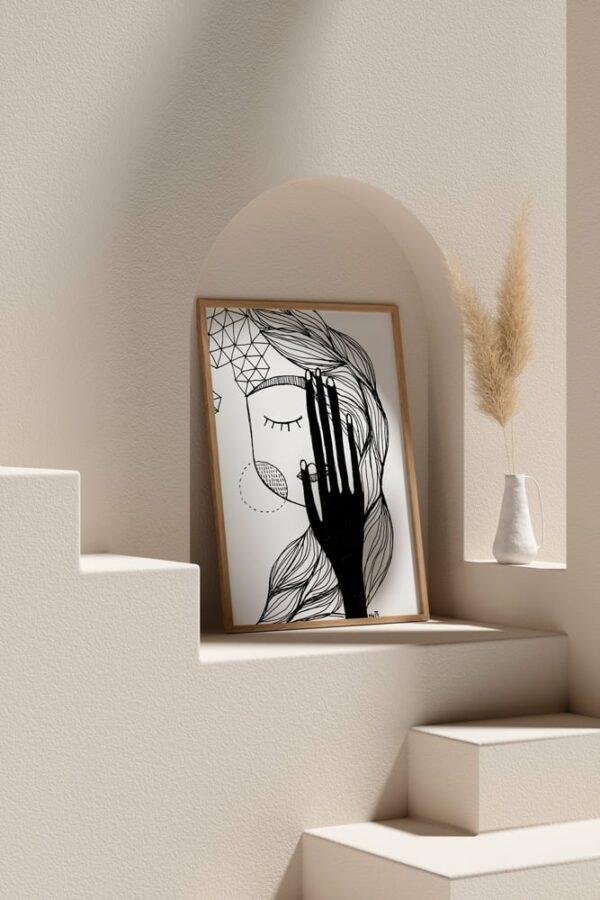"Werjant artprint portrait mockup2 lust LIEB & KÜHN ""Lust"" Print"