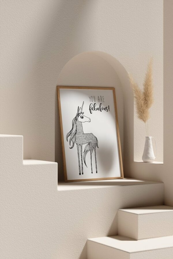 "Werjant artprint portrait mockup2 unicorn LIEB & KÜHN ""Unicorn"" Print"