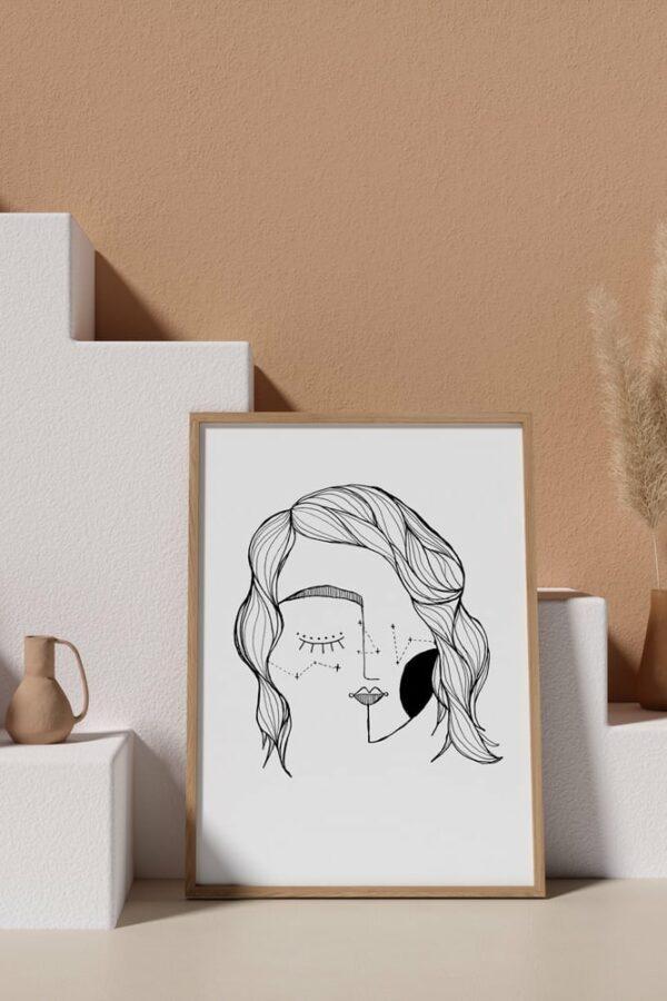 "Werjant artprint portrait mockup3 LIEB & KÜHN ""Galaxy Girl"" Print"