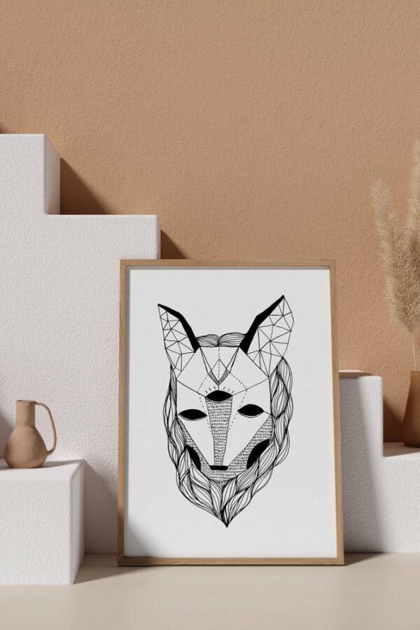 "Werjant artprint portrait mockup3 wolf LIEB & KÜHN ""Wolf"" Print"