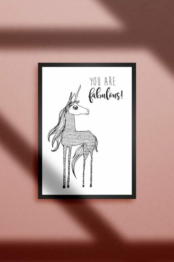 "Werjant artprint portrait unicorn LIEB & KÜHN ""Unicorn"" Print"