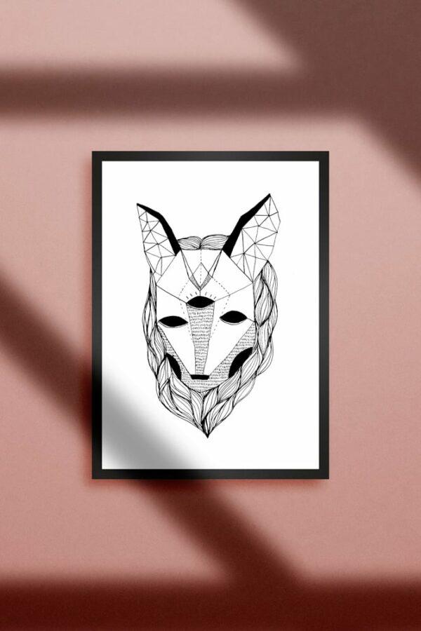 """Werjant artprint portrait wolf Kopie 2 LIEB & KÜHN """"Wolf"""" Print"""