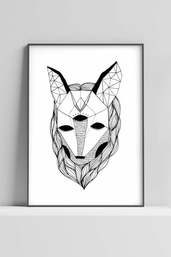 """Werjant artprint portrait wolf Kopie LIEB & KÜHN """"Wolf"""" Print"""