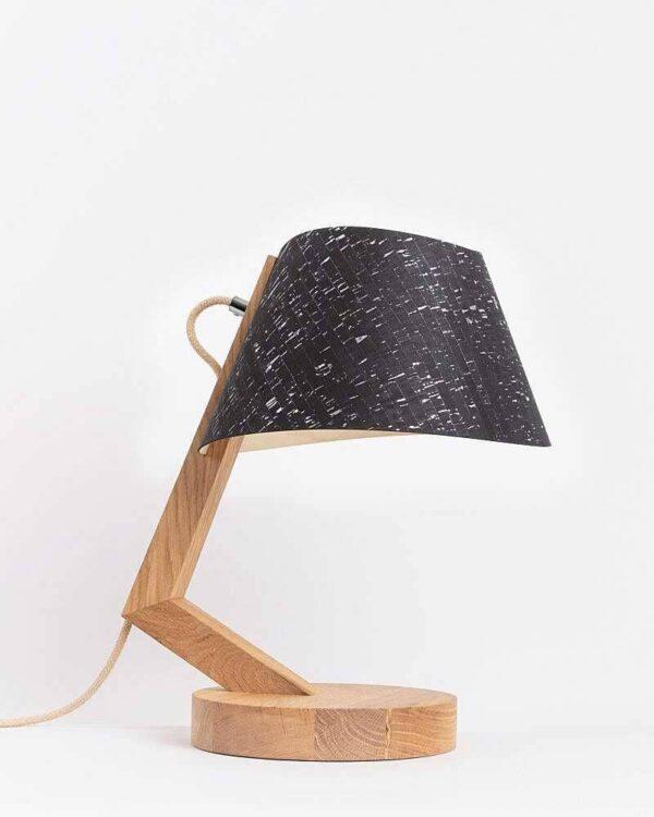 Tischlampe 1411 aus Eiche Lampenschirm aus Kork konisch ALMUT von Wildheim LIEB & KÜHN Tischlampe 1411 konisch aus Eiche
