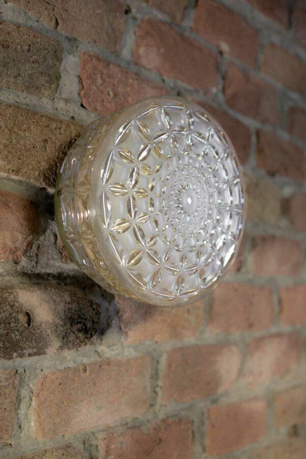 Vintage Lampe 1.2 LIEB & KÜHN Vintage Wand- Deckenleuchte aus Glas