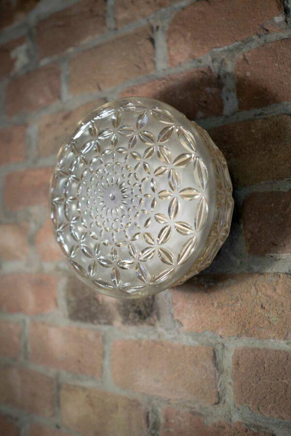 Vintage Lampe 1.3 LIEB & KÜHN Vintage Wand- Deckenleuchte aus Glas