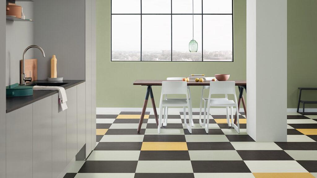 1180x664 Marmoleum Click 633701 633707 633860 333251 kitchen LIEB & KÜHN Welcome back, Linoleum!