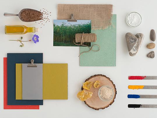 539x404 raw materials linoleum LIEB & KÜHN Welcome back, Linoleum!